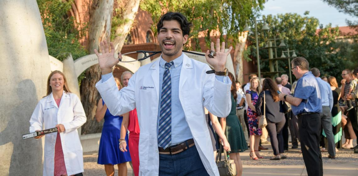 New UA medical students received their first white coats at two ceremonies held in late July in Tucson and Phoenix.