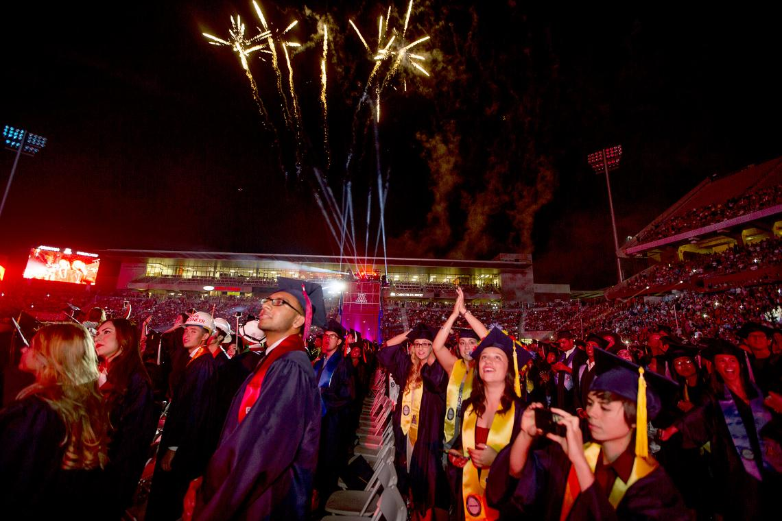 The UA's 152nd Commencement was held in honor of about 6,000 undergraduate and graduate students who earned their degrees from locations that include the UA's main campus, UA South, UA North Valley and UA Online.