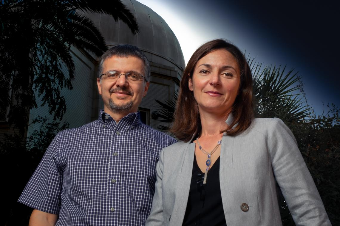 Dimitrios Pslatis, EHT project scientist, and Feryal Ozel, lead of the modeling analysis working group, are two of several University of Arizona researchers who contributed to the Event Horizon Telescope project, which was awarded the Breakthrough Prize i