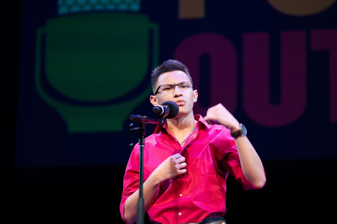 Edgardo Aguilar is the 2019 Arizona Poetry Out Loud champion.