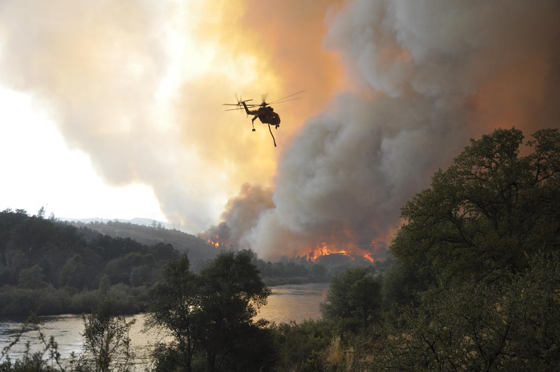 The Carr Fire near Redding, California, on July 26, 2018. The fire ultimately burned 229,651 acres. Eight people died and 1,614 structures burned.