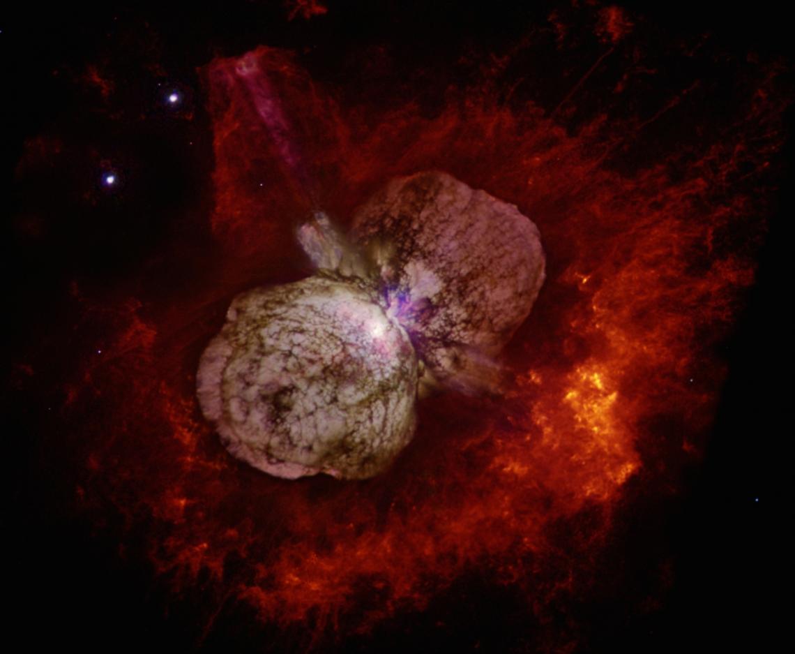 Eta Carinae as imaged with the Hubble Space Telescope