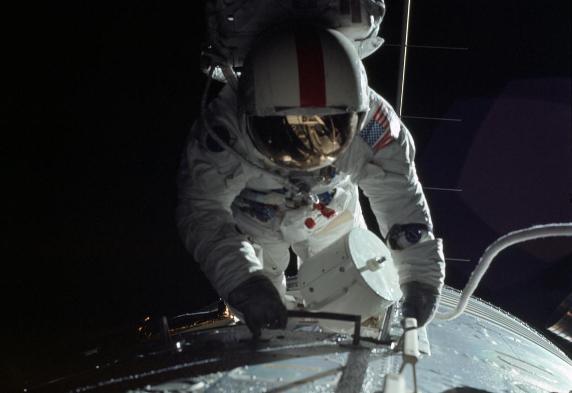 Apollo 17 astronaut Ron Evans had to embark on a spacewalk just to retrieve a cassette of film, which recorded data from the first radar mapping instrument mounted on a spacecraft.
