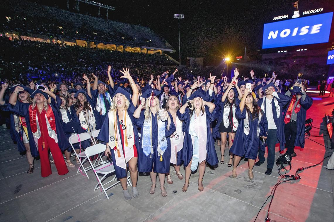 About 4,500 graduates are expected to join in the celebration at Arizona Stadium on Friday.
