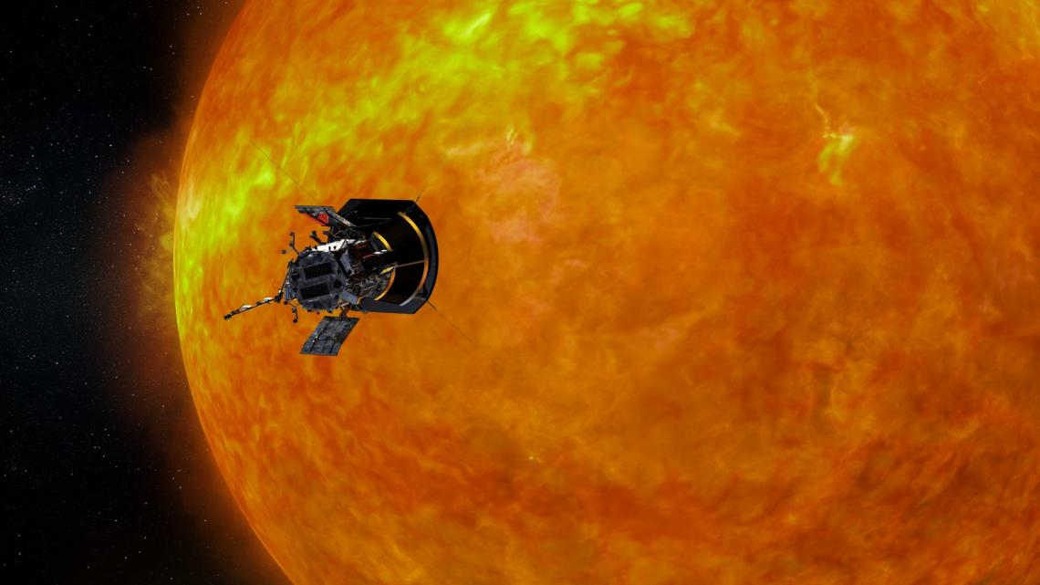 NASA's Parker Solar Probe approaching the sun.