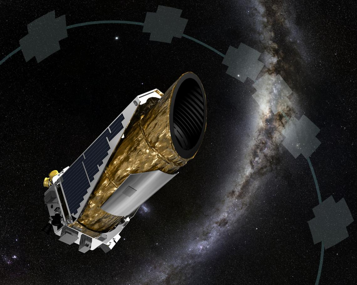 This artistic impression shows NASA's planet-hunting Kepler spacecraft operating in a new mission profile called K2. By analyzing data captured by the Kepler spacecraft, a UA-led team of researchers has discovered three new Earth-size planets orbiting a s