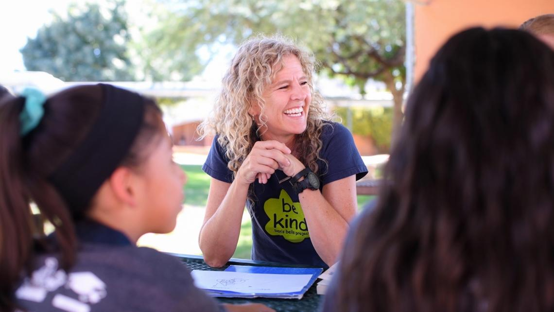 University of Arizona alumna and former faculty member Jeannette Maré founded Ben's Bells in 2003. This year, she reduced her hours with the nonprofit to return to school and study kindness in the Department of Communication.