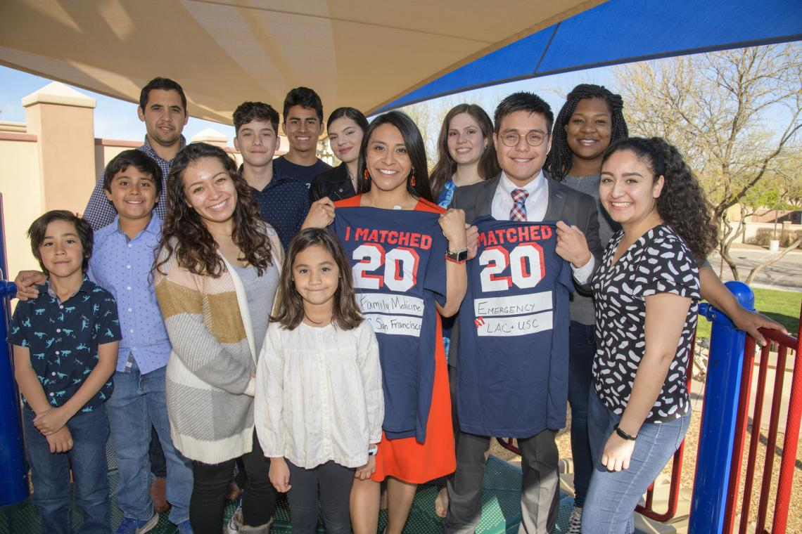Match Day typically draws hundreds of student and families. This year, amid COVID-19 concerns, the traditional ceremony was canceled, and students celebrated virtually or with small groups of family and friends instead. College of Medicine Tucson students