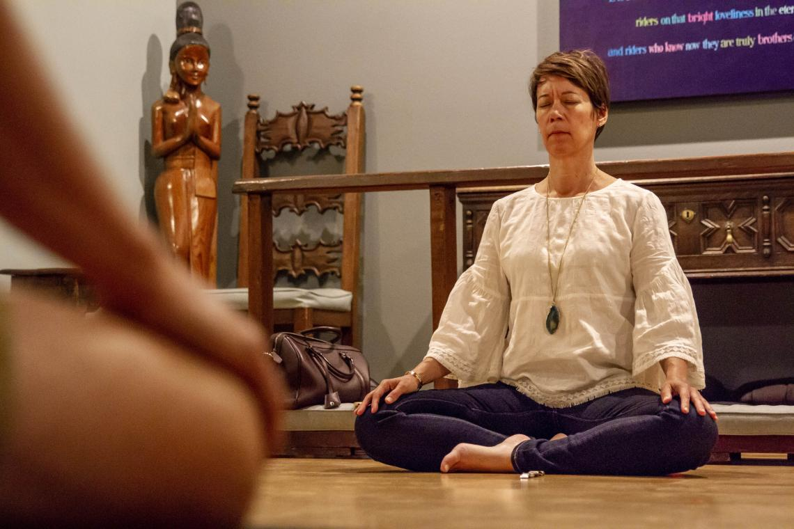 Leslie Langbert, director of the UA Center for Compassion Studies, is teaching a new online course on mindfulness. During the school year, Langbert also leads a free guided meditation practice on Monday evenings.