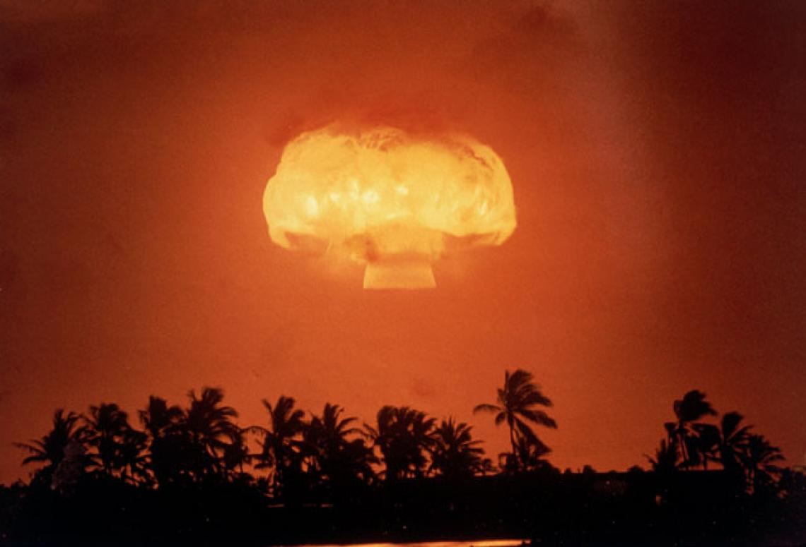 Between 1945 and 1963, hundreds of above-ground nuclear blasts took place around the world.