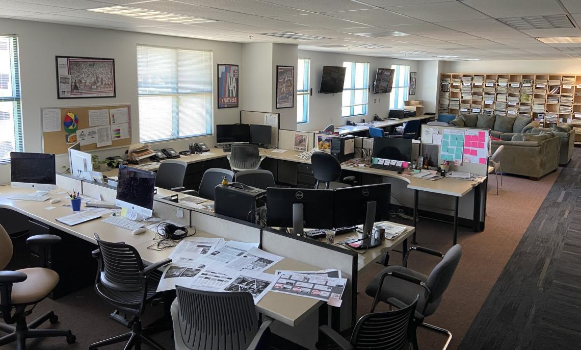Desks, computers and common areas in the Daily Wildcat newsroom have gone largely untouched since early March. Staff for the university's student-run newspaper have covered COVID-19 and other stories from home since the pandemic began.