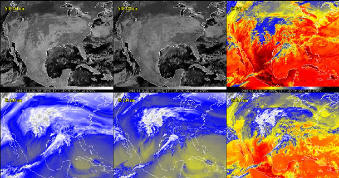 NOAA's newest weather satellite took these photos of Earth from 22,300 miles in January.