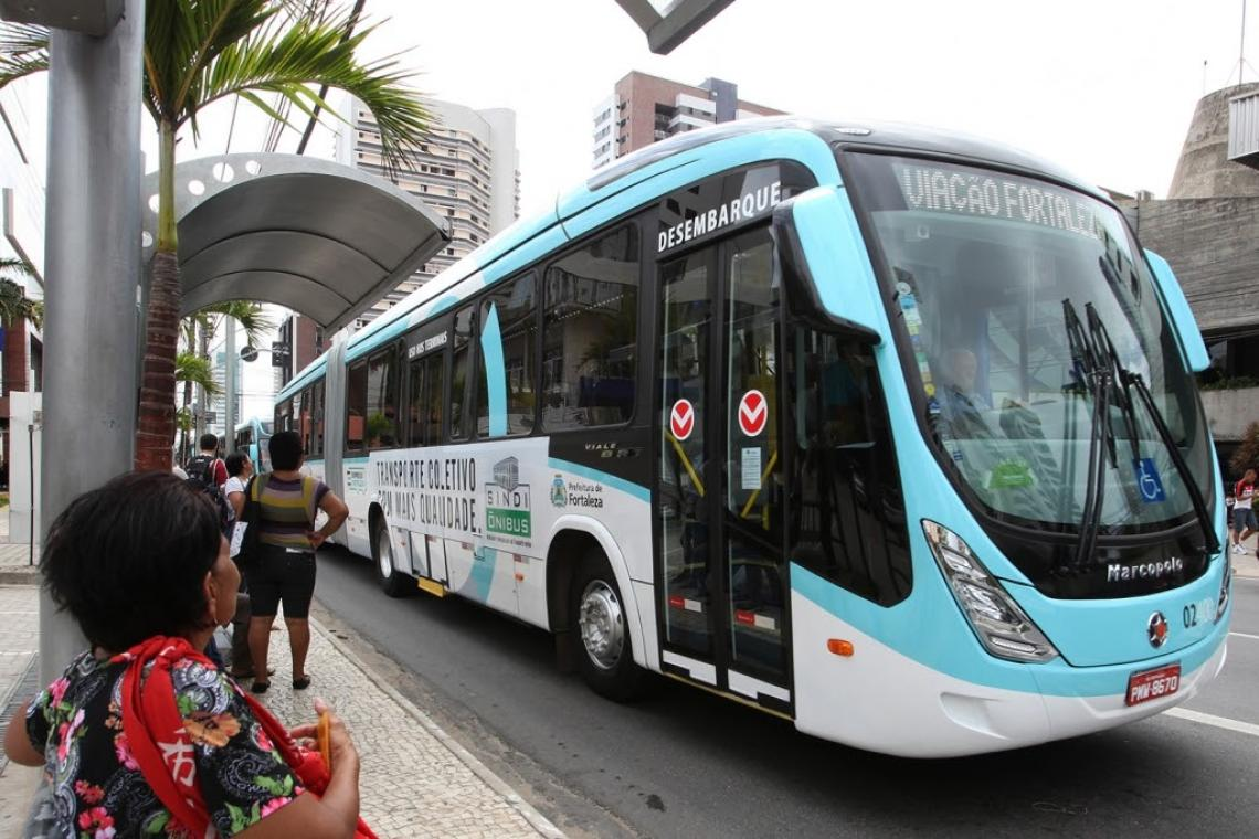 About 90 percent of Fortaleza's population uses public transportation.