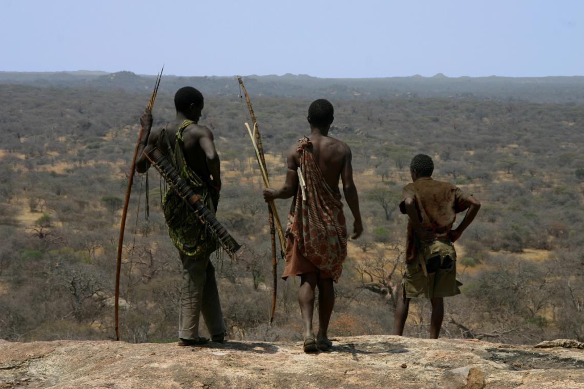 The Hadza people, in north-central Tanzania, are among the last hunter-gatherers on Earth.