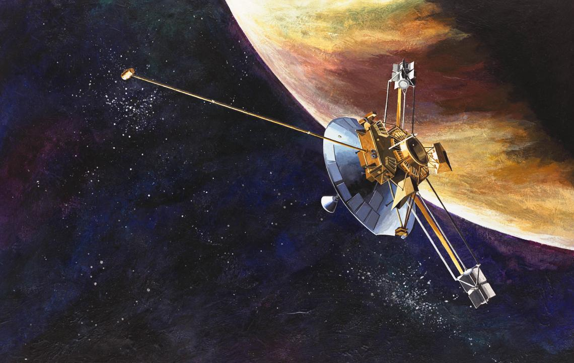 Launched on March 2, 1972, Pioneer 10 was the first spacecraft to travel through the asteroid belt, and the first spacecraft to make direct observations and obtain close-up images of Jupiter.