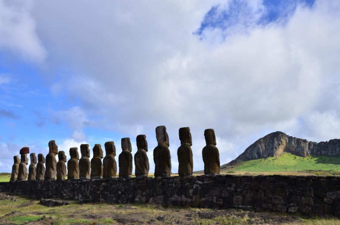 A widely held narrative is that construction of the monuments on Rapa Nui, commonly known as Easter Island, stopped around 1600 after a major societal collapse. New research revises that theory.