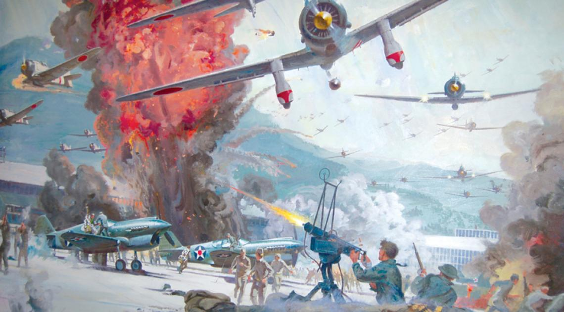 """A conceptual painting by Robert McCall for the film """"Tora! Tora! Tora!"""""""