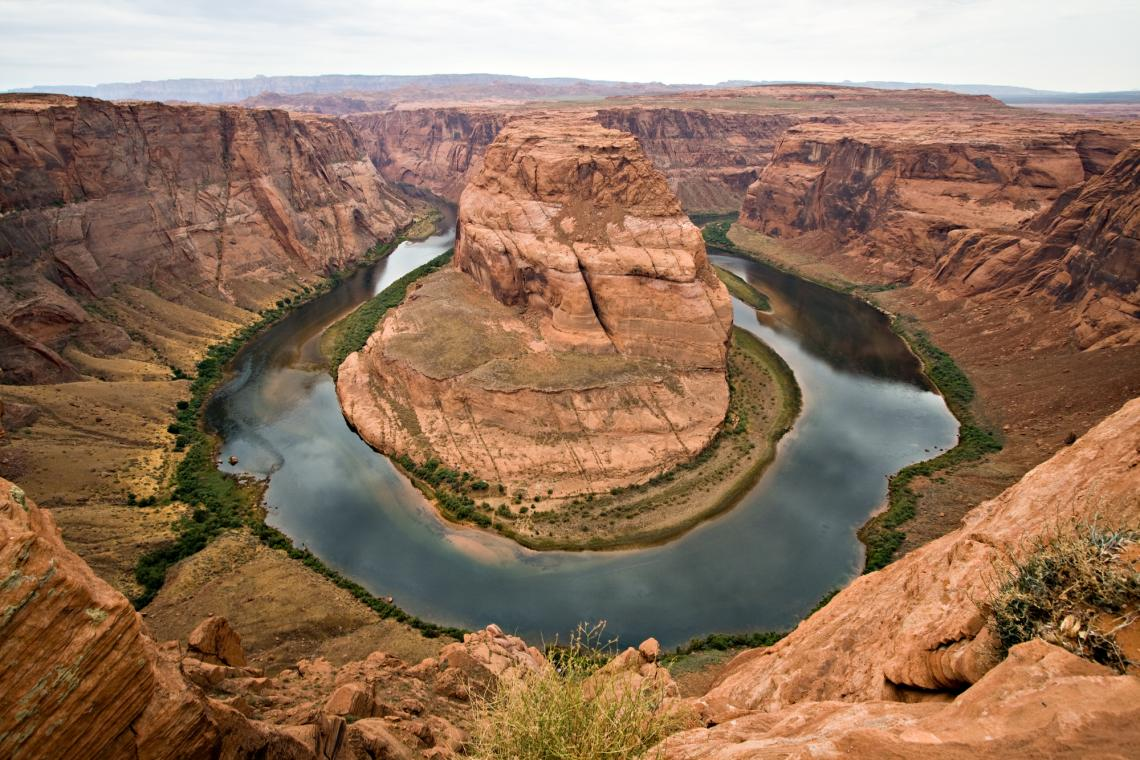 Horseshoe Bend is a horseshoe-shaped meander of the Colorado River located near the town of Page, Arizona.