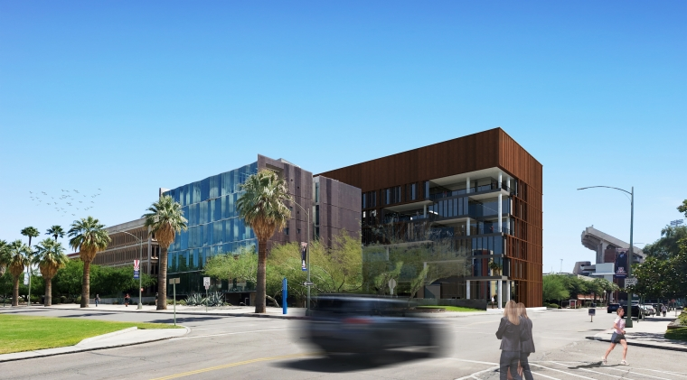 artist rendering of grand challenges research building