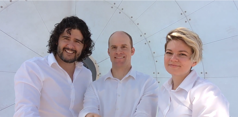 From left: Paramium Technologies' Christian Davila, co-founder; Justin Hyatt, co-founder; and Roslyn Norman, principal investigator.