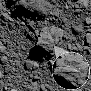 Bright carbonate vein on Bennu