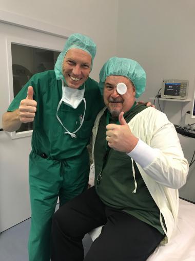 Jim Schwiegerling after eye surgery