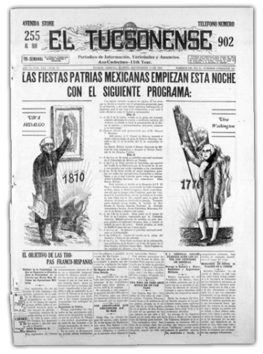"""""""This project provides easy access to Mexican and Mexican American newspapers to the University of Arizona community, the Tucson community and anyone else. In addition, digital access to these materials is not prevalent and for some of these newspapers, f"""